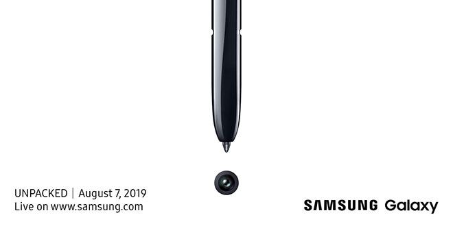 Samsung ส่งบัตรเชิญเปิดตัว Galaxy Note 10 ในงาน The Next Galaxy 7 สิงหา 2562