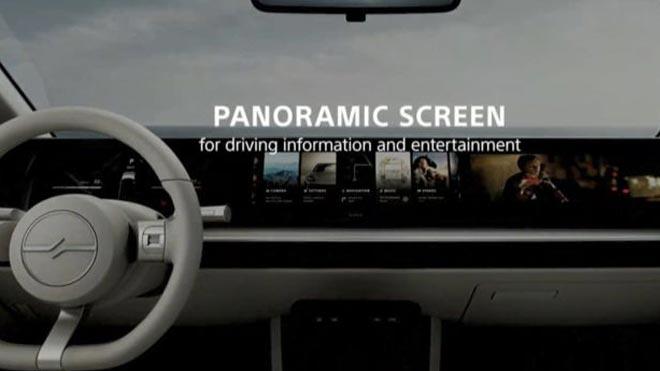panoramic แผงควบคุมในรถยนต์ของ sony