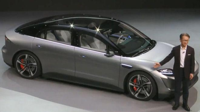 Vision S รถยนต์ต้นแบบจาก Sony