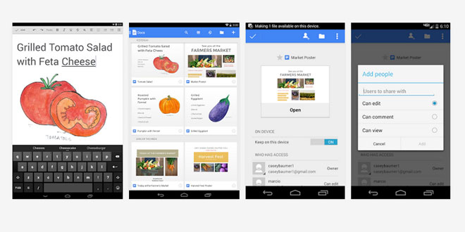 Photo of Google สู้ศึกแอพลิเคชั่นชุด Office จับหั่น Google Docs และ Google Sheet  ลง iOS และ Android