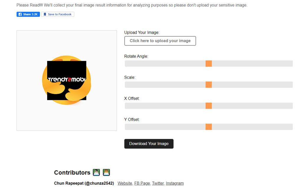 เว็บสร้าง emoji care ของ facebook