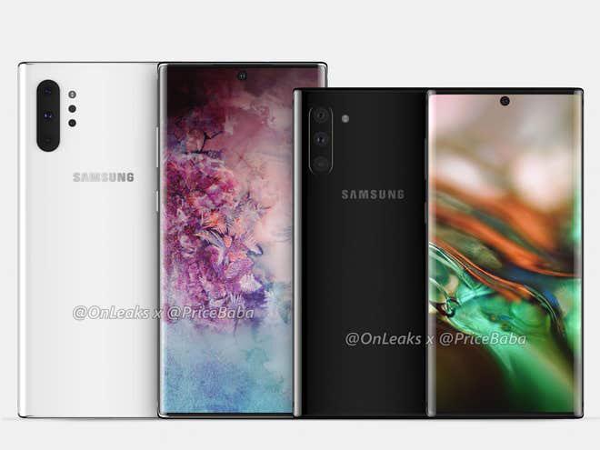 ภาพหลุด Galaxy Note 10 แบบ Render จาก OnLeaks x Pricebaba
