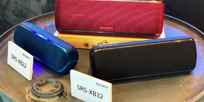 Sony SRS-XB22 ราคา 3,990 บาท และ Sony SRS-XB32 5,490 บาท