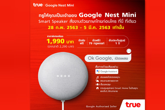 google nest mini จาก true