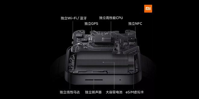 Xiaomi Smart Watch รองรับการเชื่อมต่อ Wi-Fi, GPS, NFC และเปิดใช้งานบลูทูธ และมี eSIM